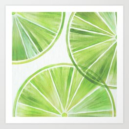 Fresh Lime ~ Summer Citrus Art Print