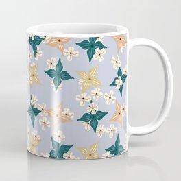 Dainty floral pattern on baby blue Coffee Mug