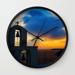 Magical Santorini Wall Clock