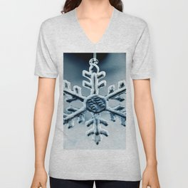 Snow Queen's Brooch Unisex V-Neck