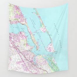 Vintage Map of Port St Lucie Inlet (1948) Wall Tapestry