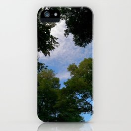 Looking up from nature iPhone Case