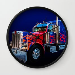 Optimus Prime Blue Wall Clock