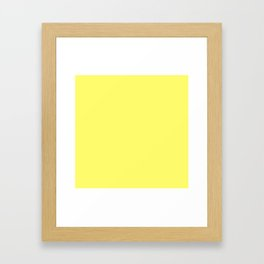 Sunshine YELLOW Framed Art Print