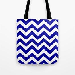 Duke blue - blue color - Zigzag Chevron Pattern Tote Bag