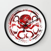hydra Wall Clocks featuring HYDRA by Trey Crim