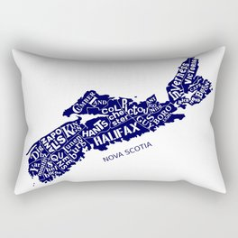 Nova Scotia Map Rectangular Pillow