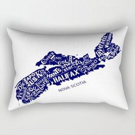 Nova Scotia Map Rectangular Pillow