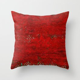 V17 Red Traditional Moroccan Carpet Texture. Throw Pillow