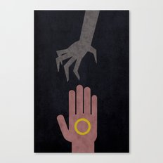 Lord of the Rings Minimalist Posters: Towers Canvas Print