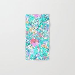 Pretty Pastel Hawaiian Hibiscus Print Hand & Bath Towel