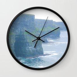 Misty Cliffs Of Ireland Print Wall Clock
