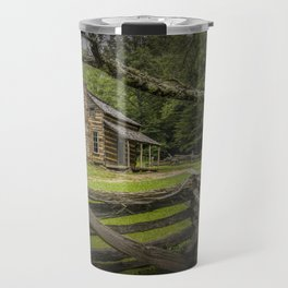 Oliver Log Cabin in Cade's Cove Travel Mug