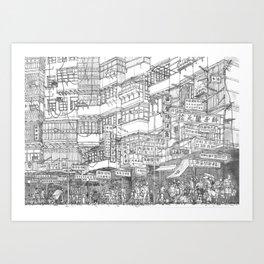Hong Kong. Kowloon Walled City Art Print