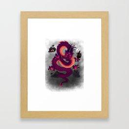 Halloween Chinese Dragon Framed Art Print