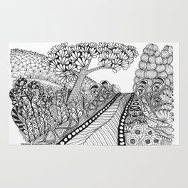 Zentangle Illustration - Road Trip Rug