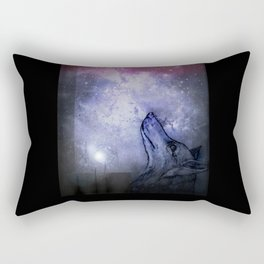 Star Wolf Rectangular Pillow