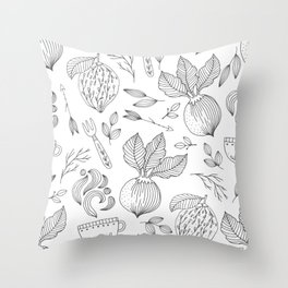 Coffee hygge Throw Pillow