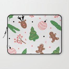 Christmas pattern in pink Laptop Sleeve