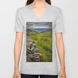 Windermere from The Kirkstone Pass Unisex V-Neck