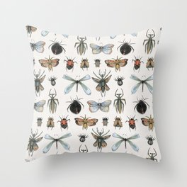 Entomology Throw Pillow