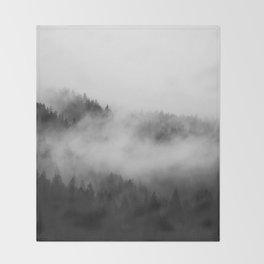 Foggy Forest Throw Blanket