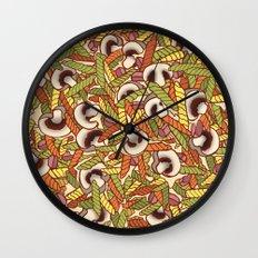 Mushroom Vegaroni  Wall Clock