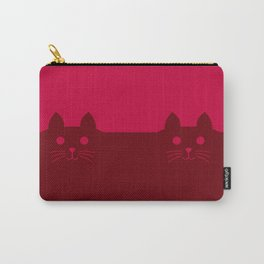 Meow Cat Red Pink Carry-All Pouch