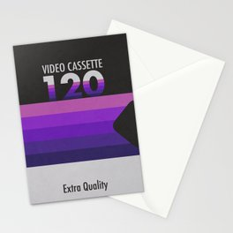 Old Video Cassette Stationery Cards