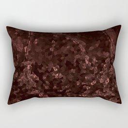 Stone coral - dark Rectangular Pillow