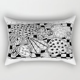 Zentangle Friends Come in All Sizes and Shapes Rectangular Pillow
