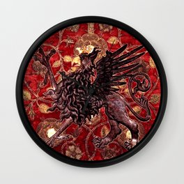 Black Gryphon - Garden of Beasts Collection Wall Clock