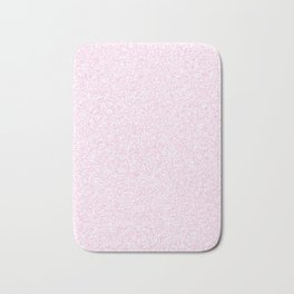 Spacey Melange - White and Classic Rose Pink Bath Mat