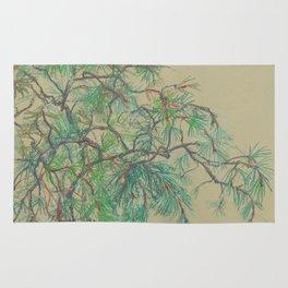 Pine-tree branch Rug