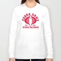 army Long Sleeve T-shirts featuring Cobra army by CarloJ1956