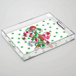 Candy Cane Party Acrylic Tray