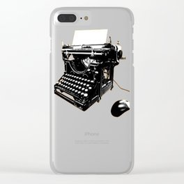 Retro Computing Clear iPhone Case