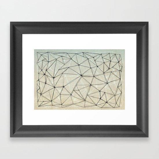 mesh Framed Art Print