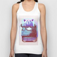 writer Tank Tops featuring Grizzly writer by RedGoat