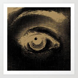Lina - Black & Gold Art Print