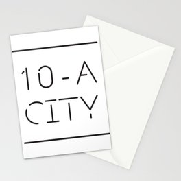 Ten-A-City Logo Stationery Cards