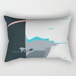 Black Swan / Land-Escape CO-VID-19 Rectangular Pillow