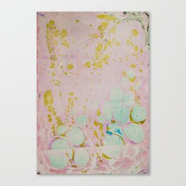 Ginger Root Hand Marbleized Canvas Print