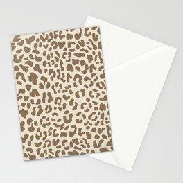 Light Tan Leopard Skin Stationery Cards