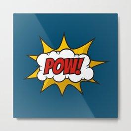 Pow Comic Sound Effect Metal Print