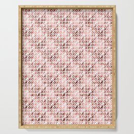XOXO Kiss Me Rose Gold Pattern 2 Serving Tray