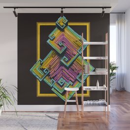 Bismuth Crystal Wall Mural