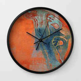 Moths 5  Wall Clock