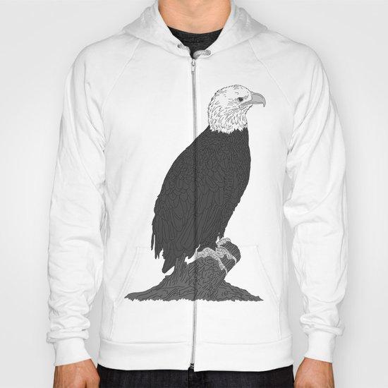 American Bald Eagle B/W Hoody