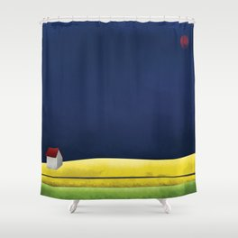 Simple Housing | A night in the life Shower Curtain
